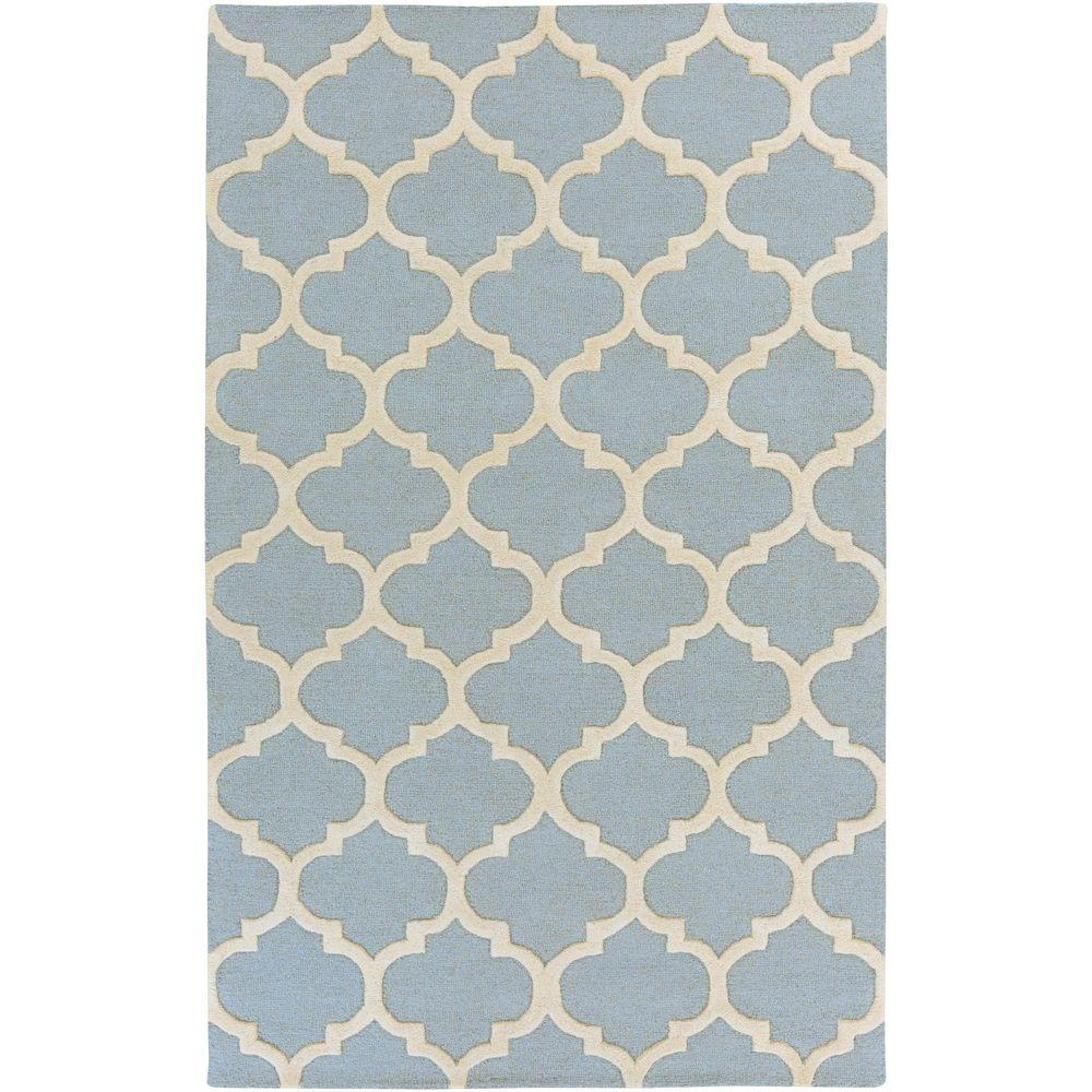 Artistic Weavers Pollack Stella Sky Blue 8 Ft X 11 Ft Indoor Area Rug Awah2034 811 The Home Depot