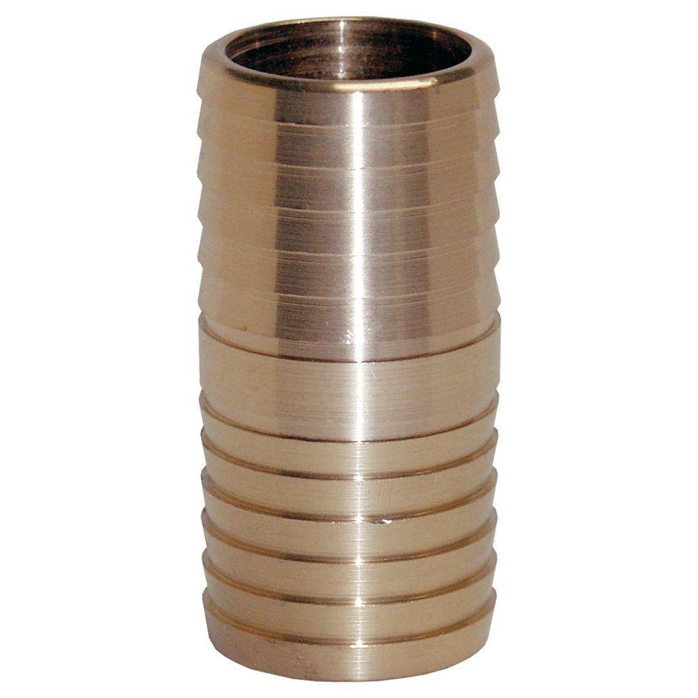 Water Source 1 in. Brass Insert Coupling