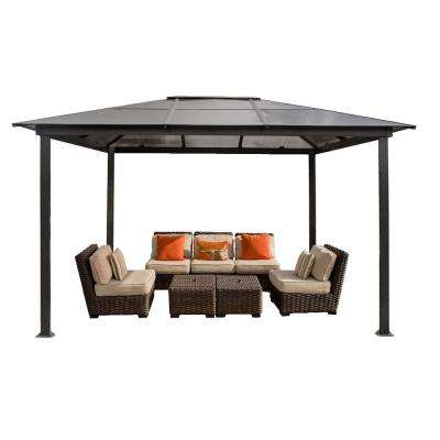 Paragon 10 ft. x 13 ft. Aluminum Hard Top Gazebo with Louvered Roof and Mosquito Netting