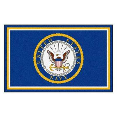 U.S. Navy 4 ft. x 6 ft. Ultra Plush Area Rug