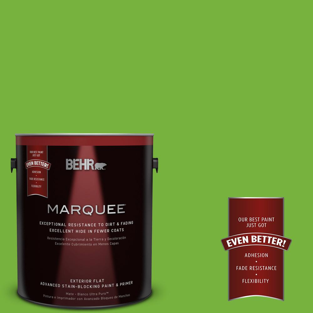 1-gal. #S-G-430 Sparkling Apple Flat Exterior Paint