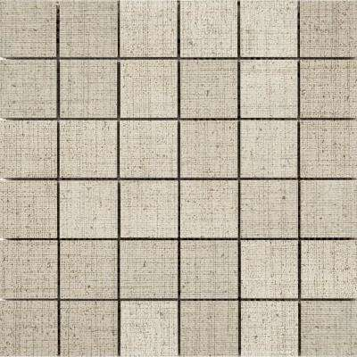 Canvas Khaki 11.81 in. x 11.81 in. x 9mm Porcelain Mesh-Mounted Mosaic Tile (0.97 sq. ft.)
