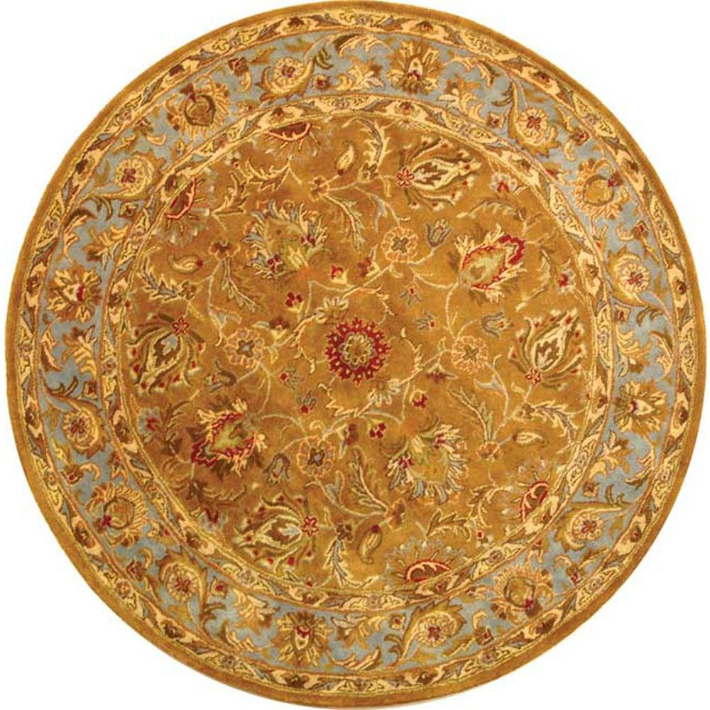 Heritage Brown/Blue 6 ft. x 6 ft. Round Area Rug