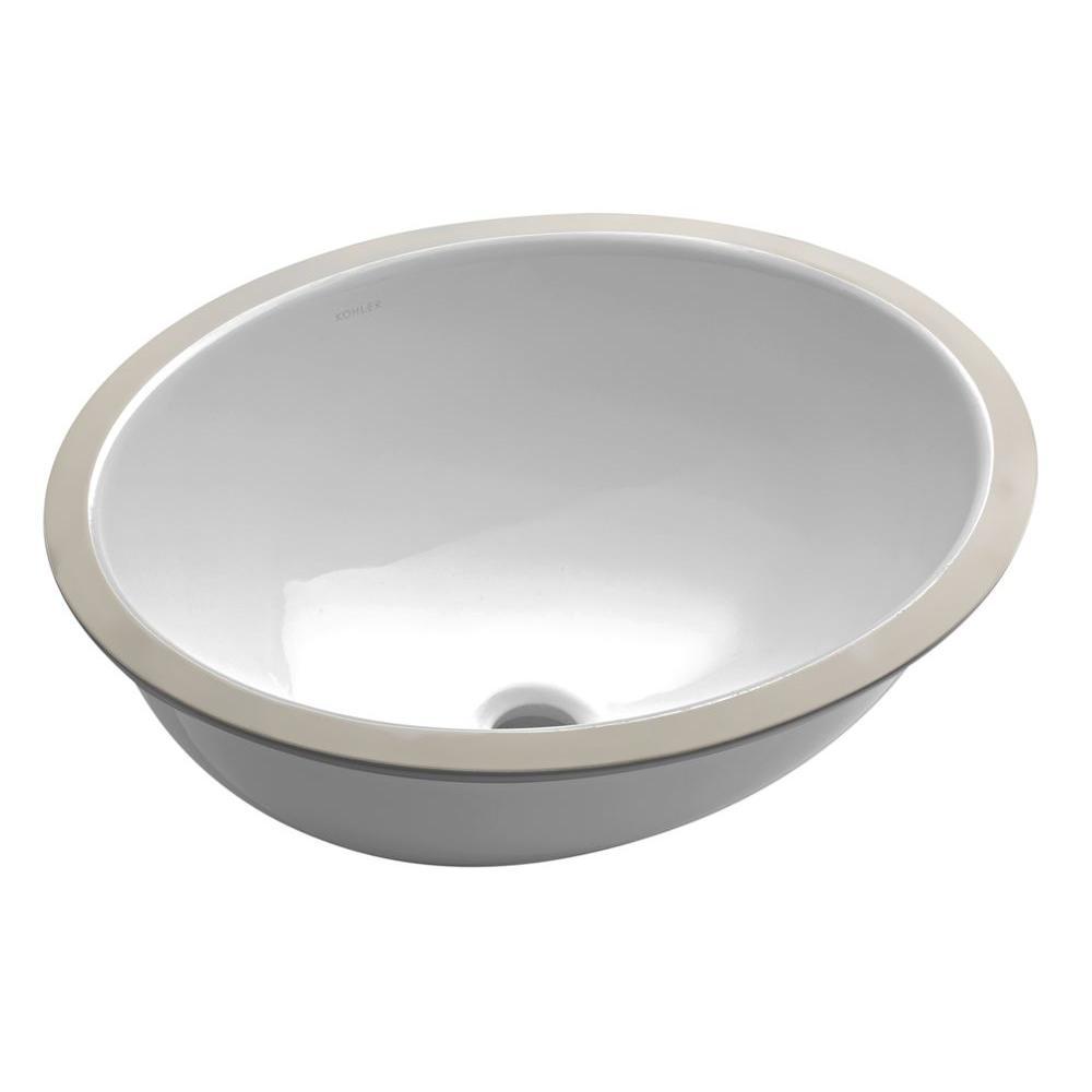 Caxton Vitreous China Undermount Bathroom Sink in White