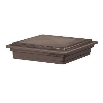 5 in. x 5 in. Bronze Composite Traditional Beveled Post Cap