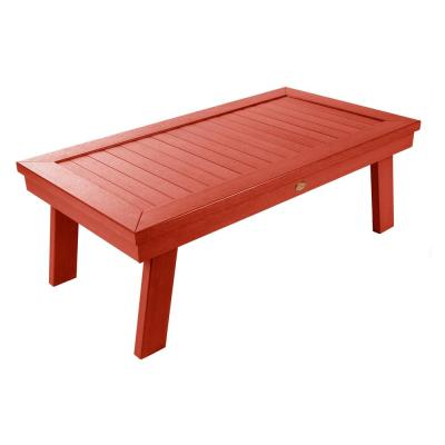 Adirondack Rustic Red Rectangular Recycled Plastic Outdoor Coffee Table