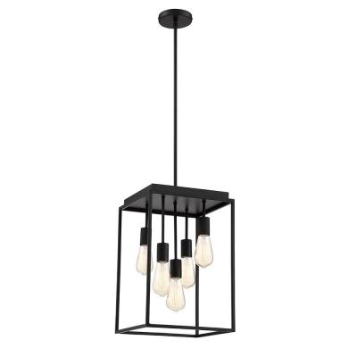 Rollins 5-Light Black Chandelier