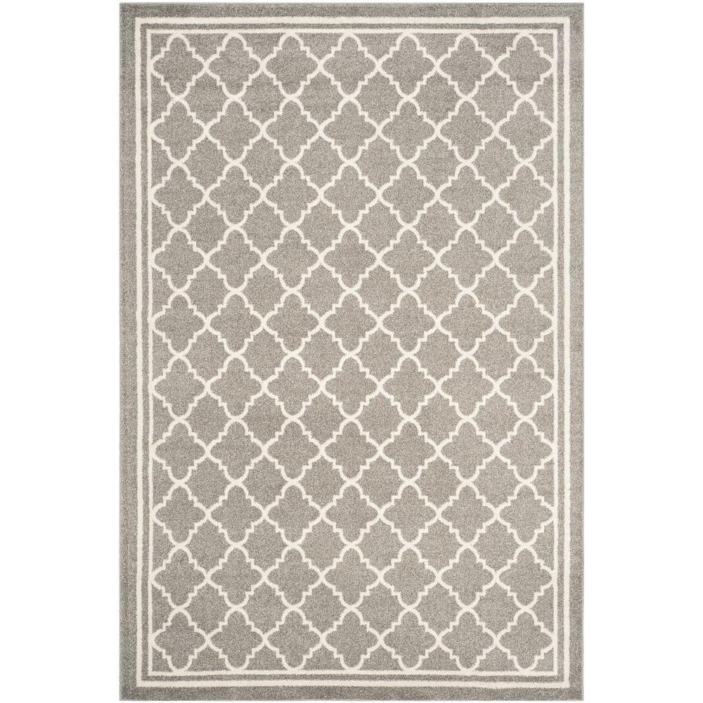 Safavieh Amherst Dark Gray/Beige 5 ft. x 8 ft. Indoor/Outdoor Area Rug