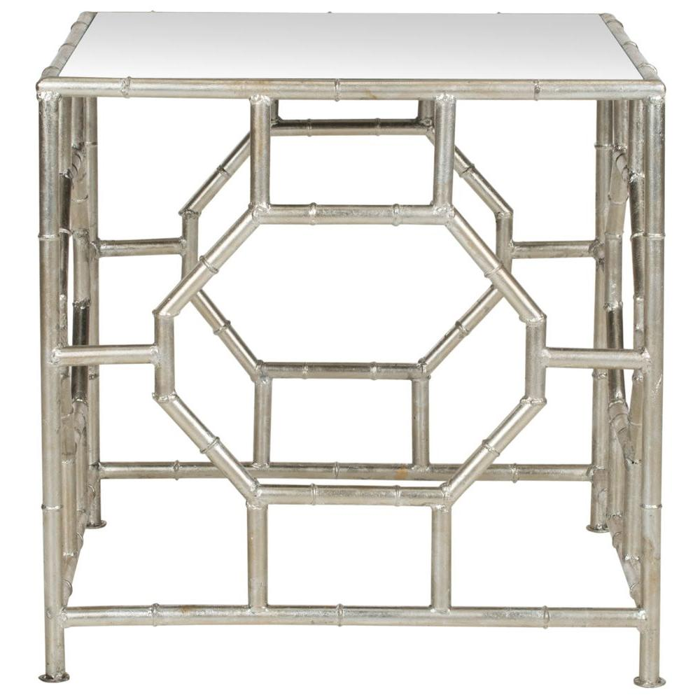 Safavieh Rory Silver Mirror Top End Table