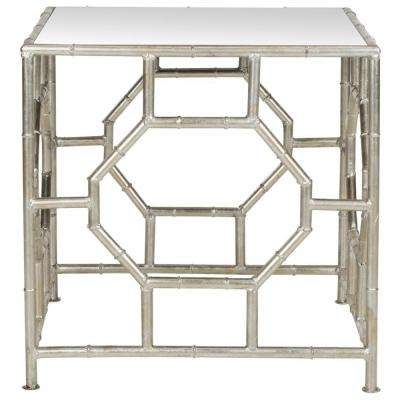 Rory Silver Mirror Top End Table