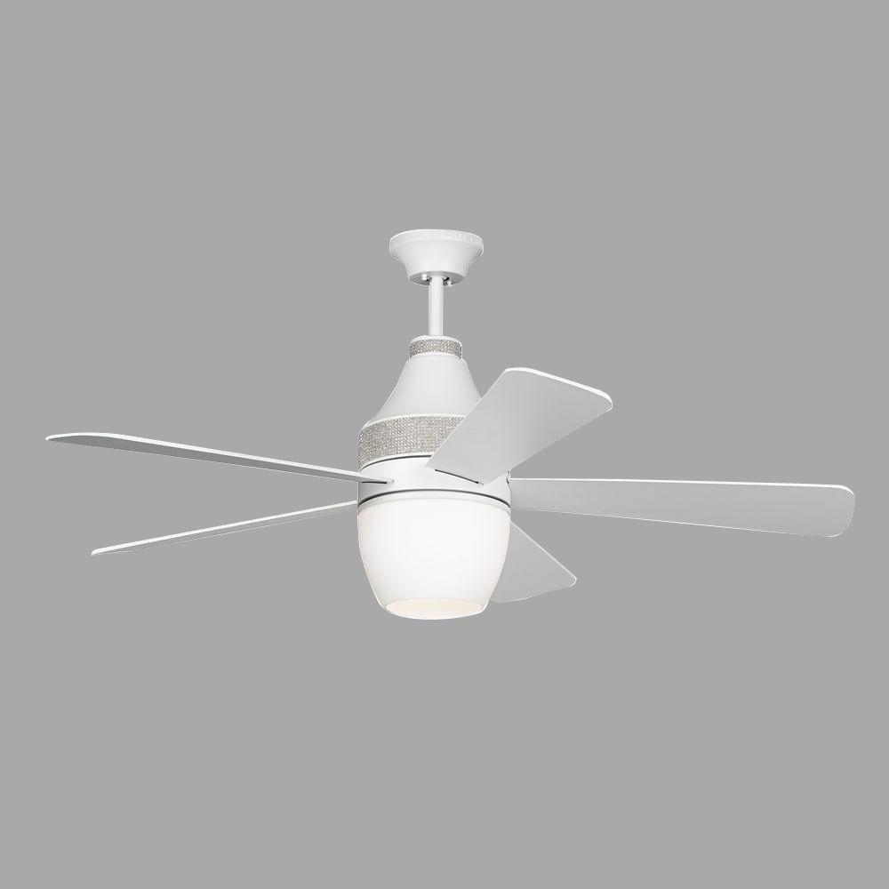 Monte Carlo Nikki 52 in. Rubberized White Ceiling Fan