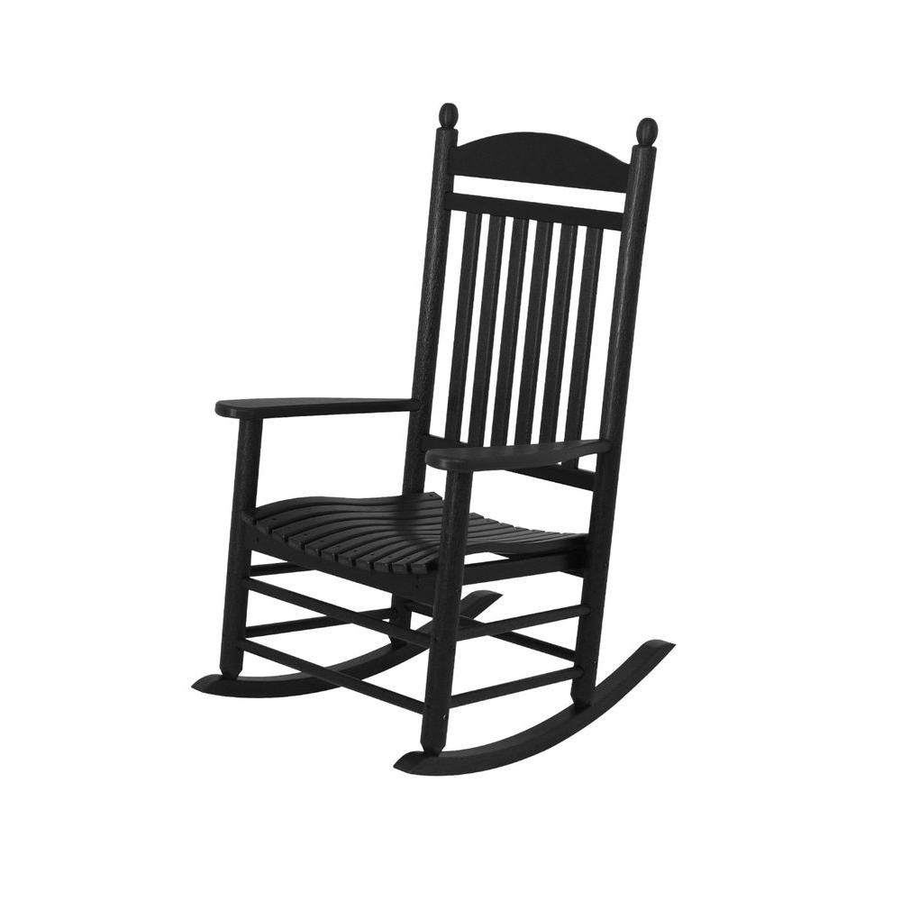 Attractive Jefferson Black Patio Rocker
