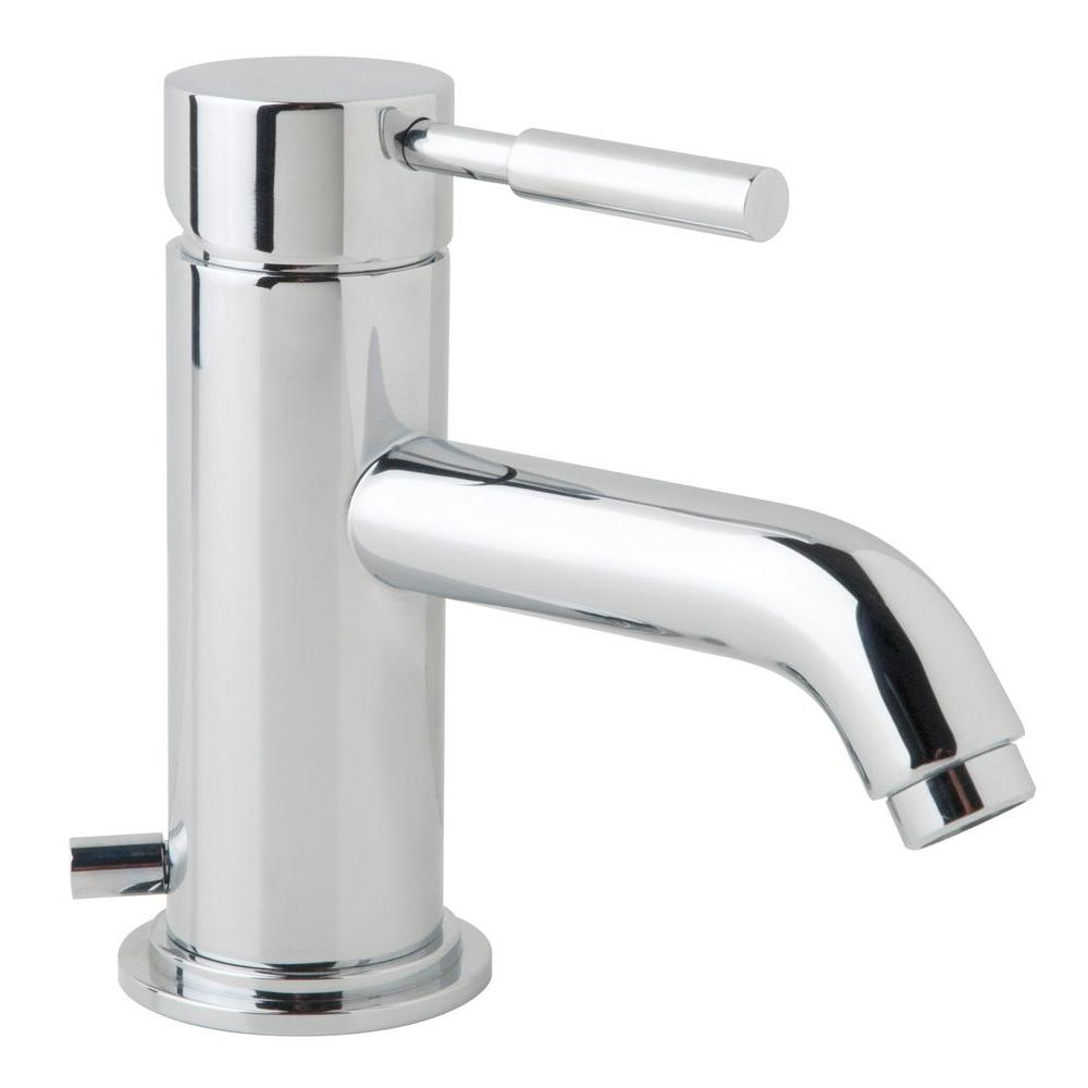 Symmons Sereno Single Hole 1 Handle Low Arc Bathroom Faucet In Chrome Sls 2100 The Home Depot