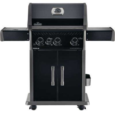 Rogue 425 3-Burner Edition Propane Gas Grill in Black with Infrared Side-Burner
