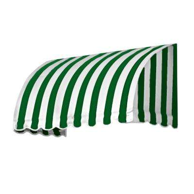 50 ft. Savannah Window/Entry Awning (44 in. H x 36 in. D) in Forest/White Stripe