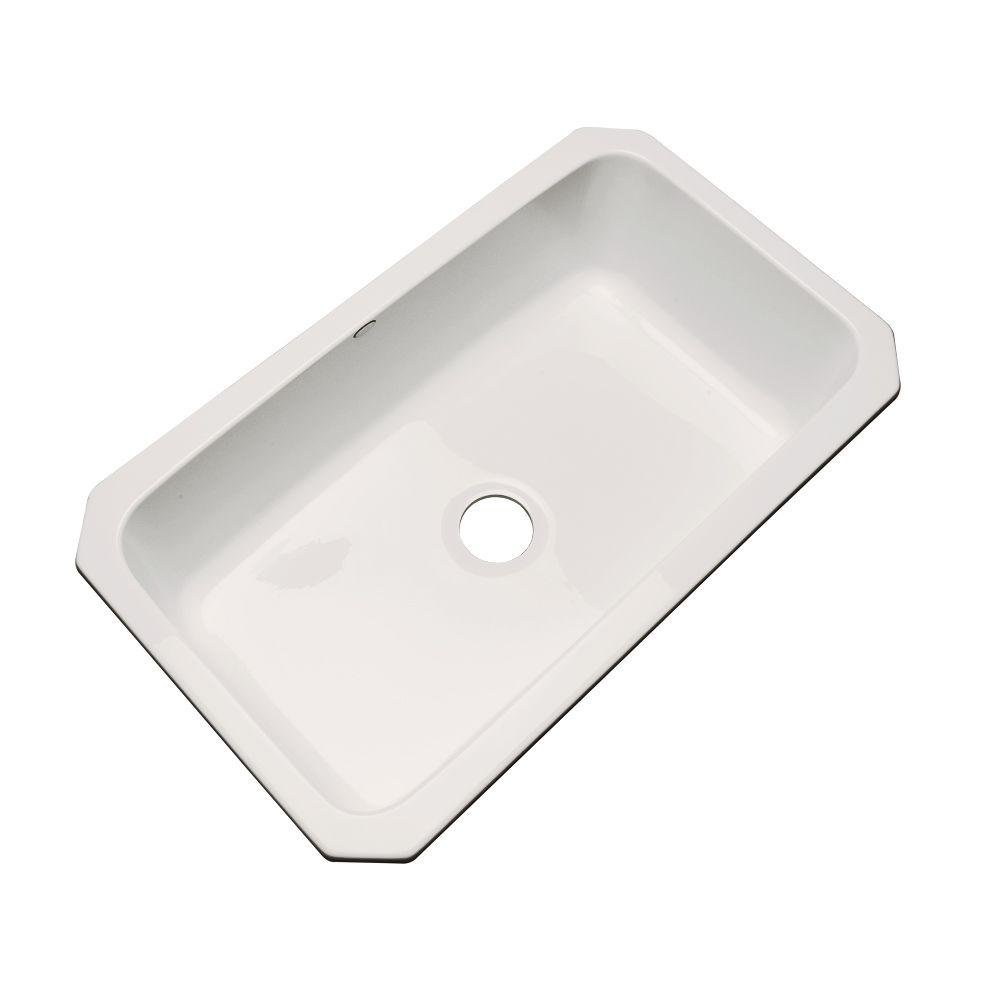 Manhattan Undermount Acrylic 33 in. Single Bowl Kitchen Sink in Natural