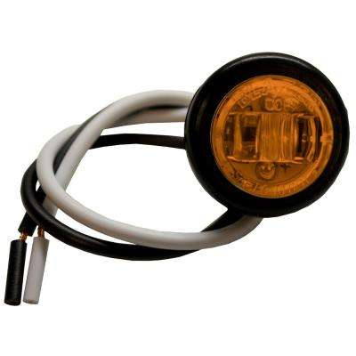 LED 3/4 in. Round Clearance/Side Marker Light, Amber