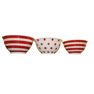 Anchor Hocking 3-Piece Decorated Melamine Mixing Bowl by