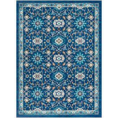 Elias Navy 9 ft. 3 in. x 12 ft. 3 in. Medallion Area Rug