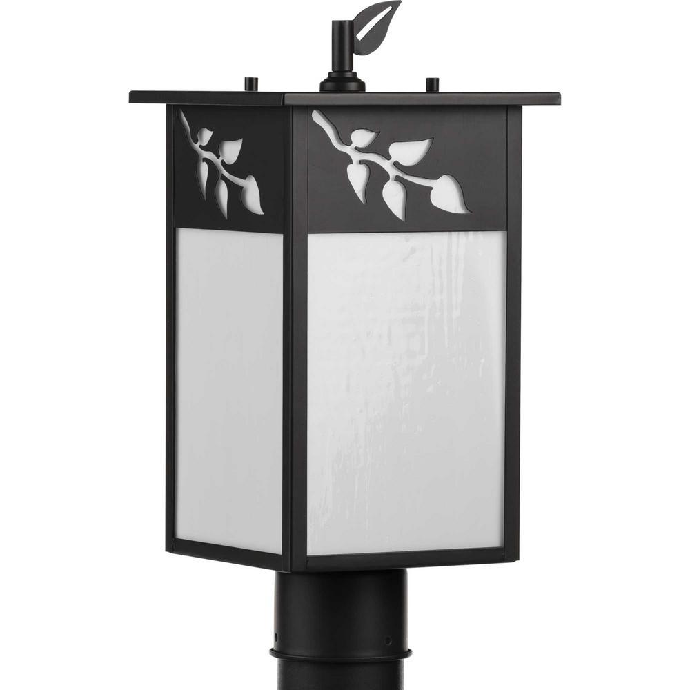 Trellis Line Voltage Antique Bronze 1-Light 4 in. x 4 in. Deck Post Light Lantern