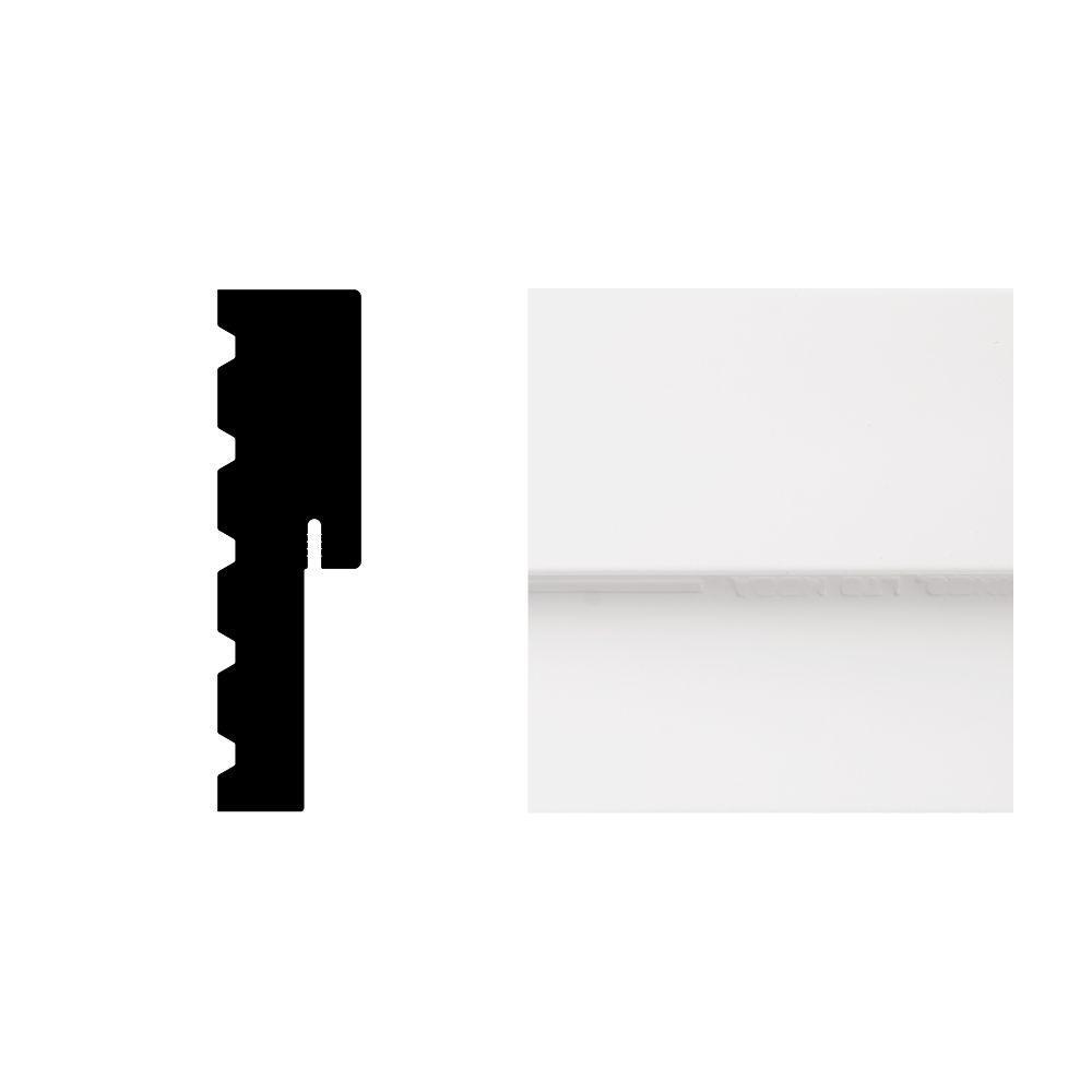 Veranda 1-1/4 in. x 4-1/2 in. x 7 ft. PVC Composite White Entry Door Jamb Moulding