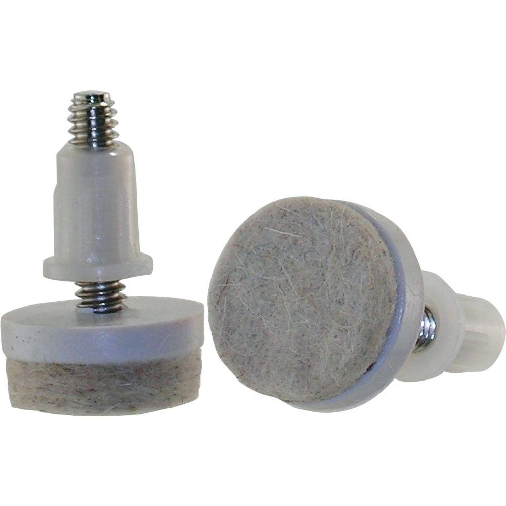 Everbilt 1 1 2 in Threaded Stem Furniture Glides with Felt Base 4