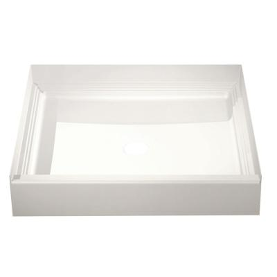 A2 36 in. x 36 in. Single Threshold Center Drain Shower Pan in White