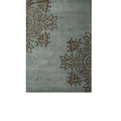 Tempo Blue 3 ft. 6 in. x 5 ft. 6 in. Area Rug