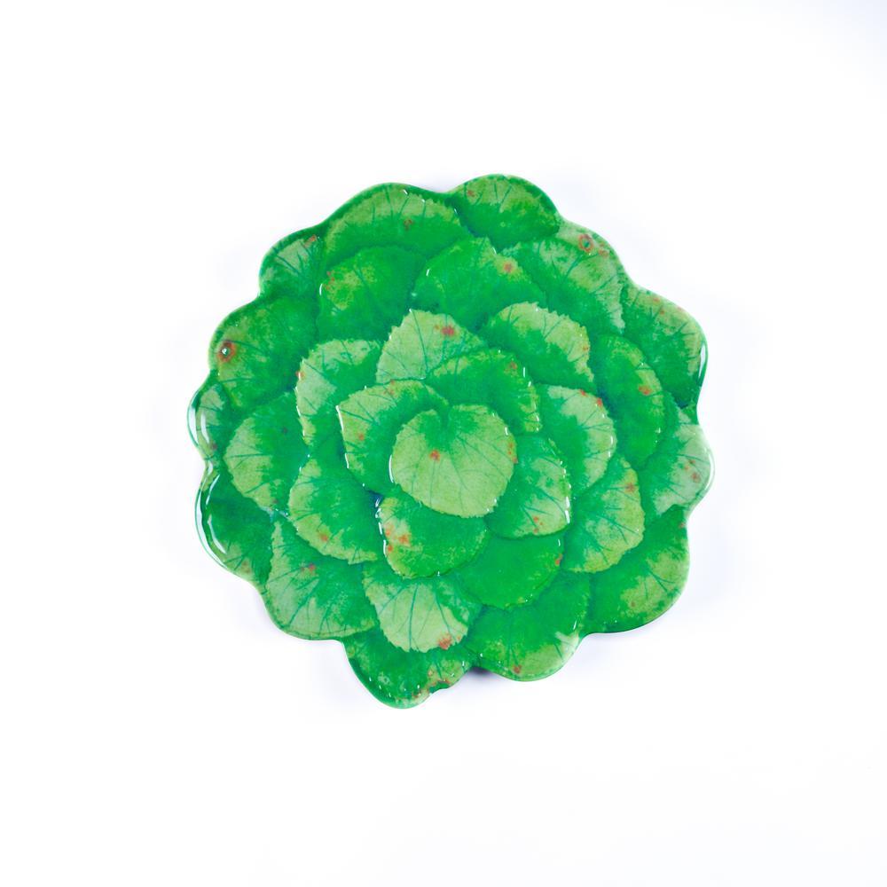 Botanical Galax Leaf Green Dinner Plate (Set of 4)