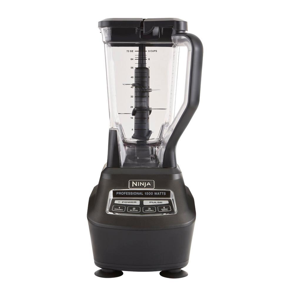 Ninja Mega Kitchen System 72 oz. 3-Speed Black Blender and ...