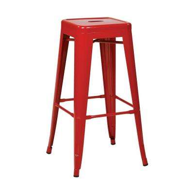 Patterson 30 in. Red Bar Stool (Set of 2)