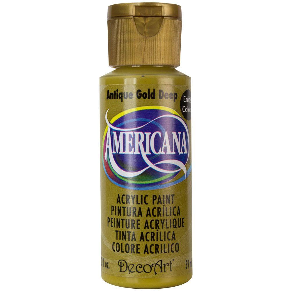 Americana 2 oz. Antique Gold Acrylic Paint