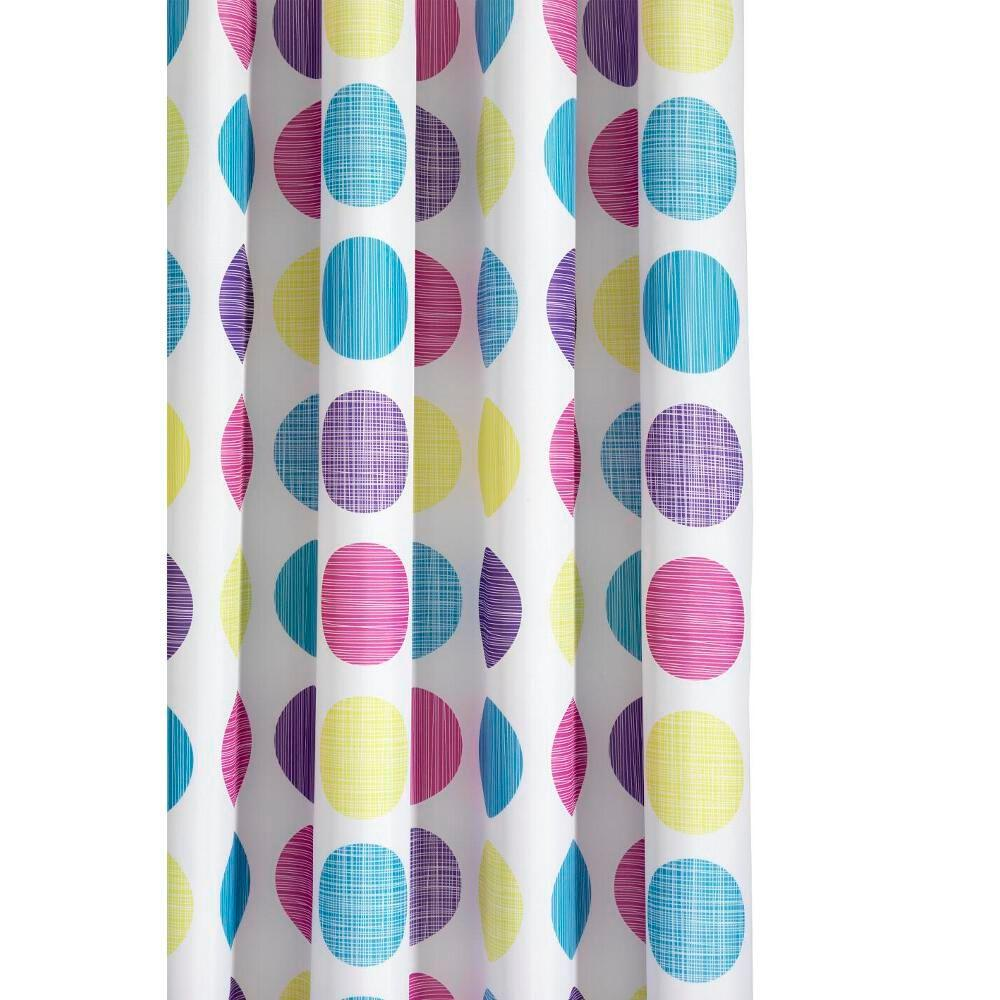 Croydex Textured Dots Shower Curtain in Multi-AF288115YW - The ...