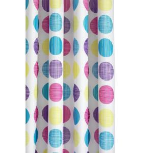 Croydex Textured Dots Shower Curtain in Multi by Croydex