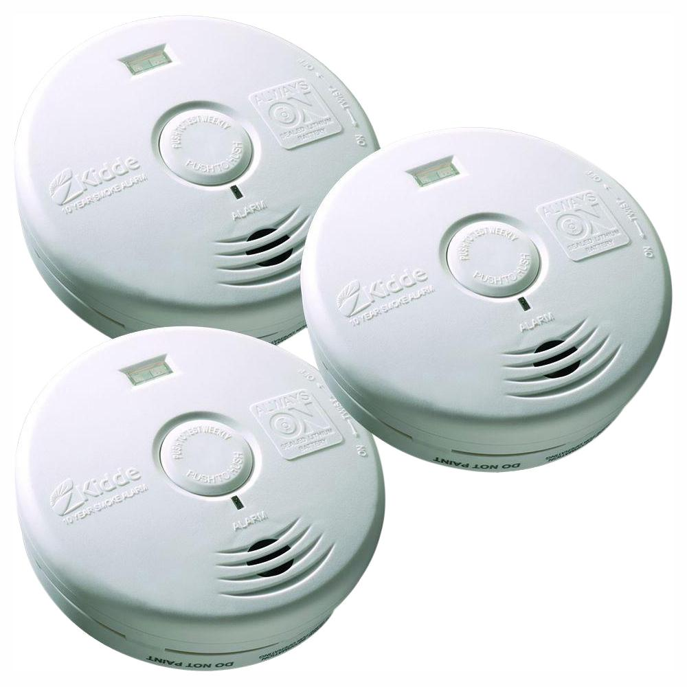 Kidde Worry Free 10 Year Sealed Battery Smoke Detector With Safety