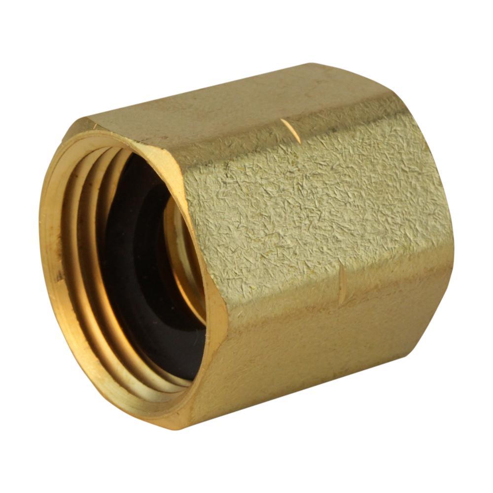 Everbilt 3/4 in. FHT x 3/4 in. FIP Lead-Free Brass Garden Hose Adapter Fitting