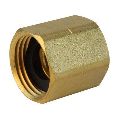 Lead-Free Brass Garden Hose Adapter 3/4 in. FHT x 3/4 in. FIP