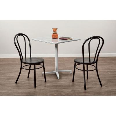 Odessa Frosted Black Metal Dining Chair (Set of 2)