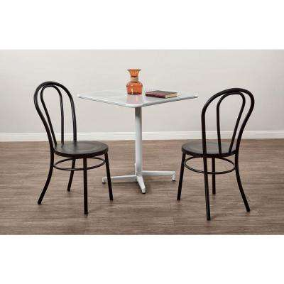 Odessa Frosted Black Metal Dining Chair Set Of 2
