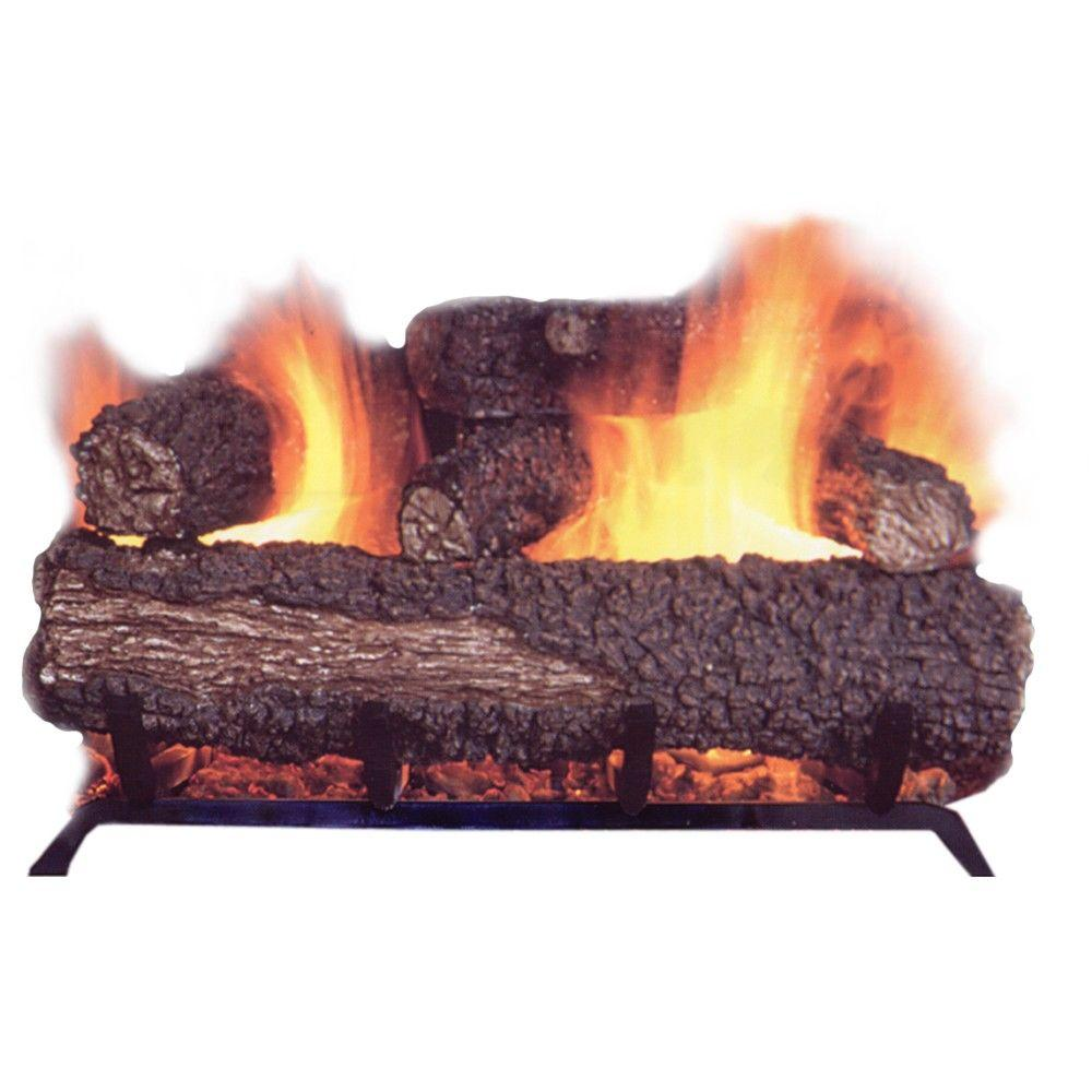 null 21 in. Vented Dual Burner Natural Gas Fireplace Logs-DISCONTINUED