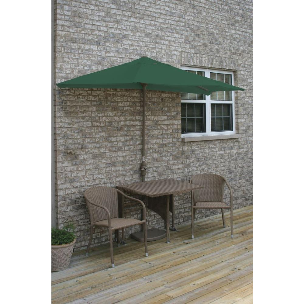 Coffee Bistro Set Green Umbrella Furniture Sets