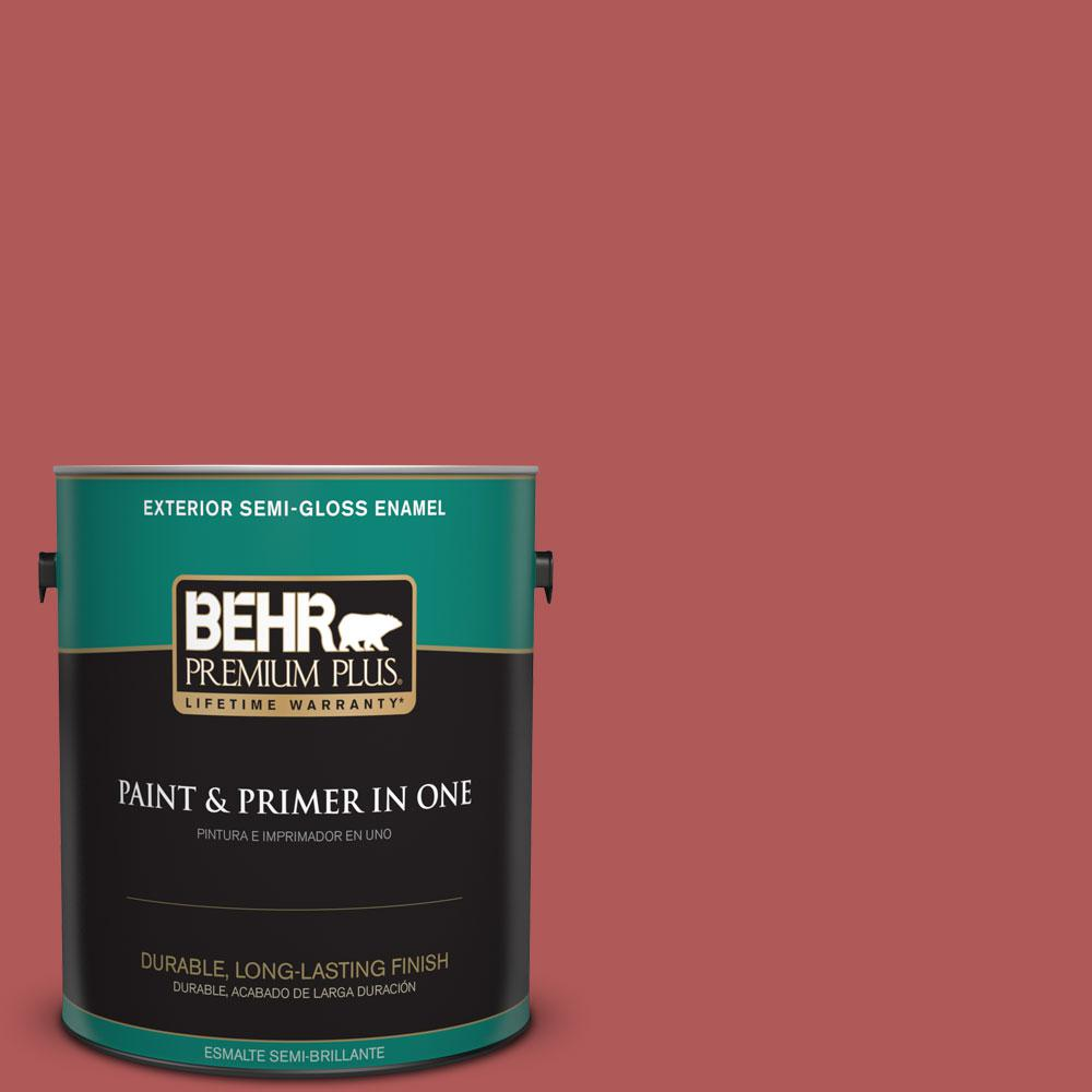 1-gal. #160D-6 Pottery Red Semi-Gloss Enamel Exterior Paint