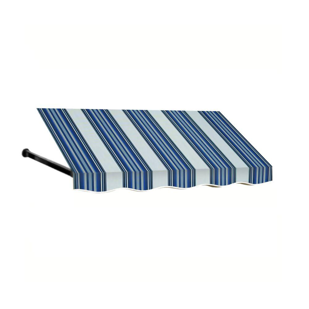 AWNTECH 12 ft. Dallas Retro Window/Entry Awning (24 in. H x 36 in. D) in Navy/White Stripe