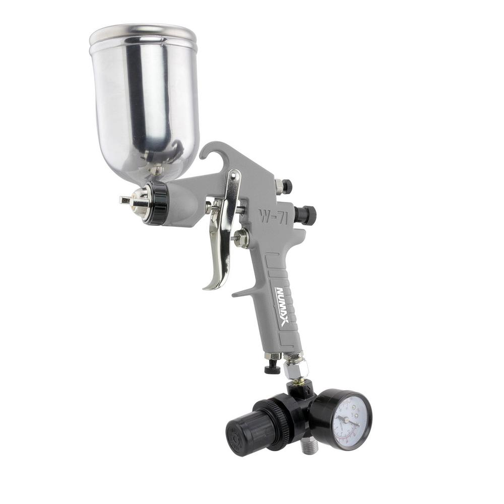 NuMax Pneumatic Gravity Feed Spray Gun with 400 cc Aluminum Cup