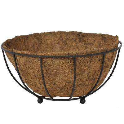 14 in. Dia Canterbury Metal Floor Planter