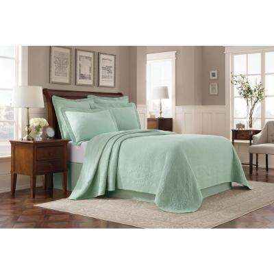 Williamsburg Abby Sage King Coverlet