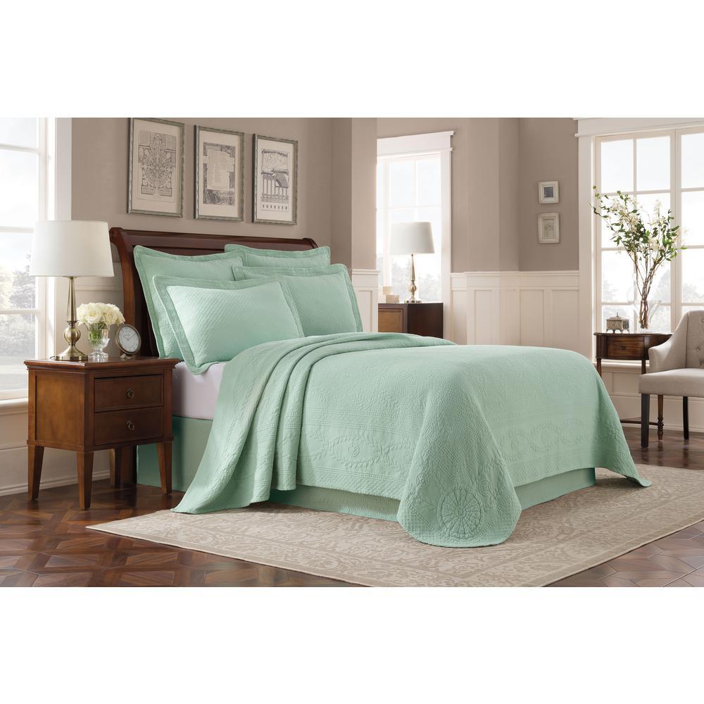 Williamsburg Abby Sage Twin Bedspread
