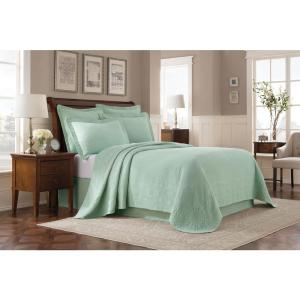 Williamsburg Abby Sage Solid Queen Coverlet