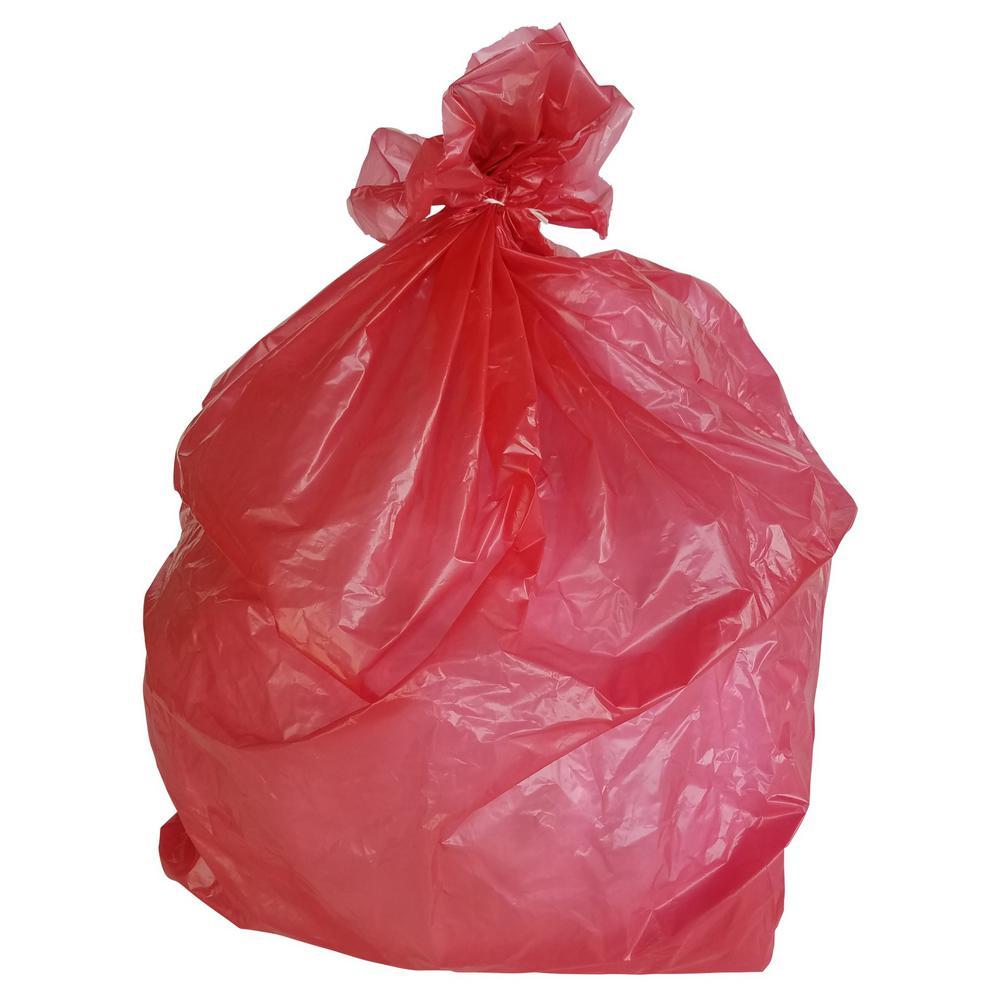 33 Gal. 1.5 mil 33 in. H x 39 in. W Red Trash Bags (100-Bags per Case, 112-Cases per Pallet)