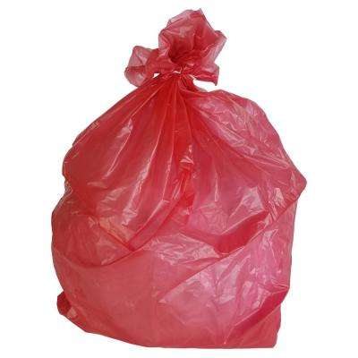 33 in. W x 39 in. H 33 Gal. 1.5 mil Red Trash Bags (100-Case)